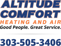altitude comfort heating and air logo 303-505-3406